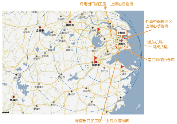 上海及周边区域